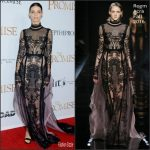 Angela Sarafyan In Reem Acra At 'The Promise' LA Premiere