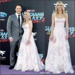 Anna Faris In Marchesa  At  'Guardians Of The Galaxy Vol. 2' LA Premiere