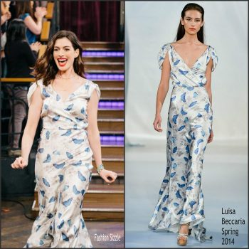 anne-hathaway-in-luisa-beccaria-late-late-show-with-james-corden-700×700