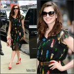 Anne Hathaway In Vintage Dress  At  Good Morning America