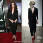 Anne Hathaway In Vivienne Westwood Red Label  At 'Colossal' LA Premiere