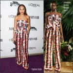 Ashley Madekwe In Johanna Ortiz – Vanity Fair Young Hollywood Party