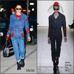Bella Hadid In Adam Selman-  Out In New York