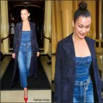 Bella Hadid  rocks denim  – Launch of her new Dior Pump 'N' Volume