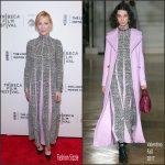 Cate Blanchett In Valentino At  'Manifesto' Tribeca Film Festival Premiere