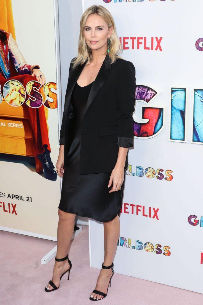 Charlize Theron In Nili Lotan At 'Girlboss' LA Premiere ...