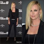 Charlize Theron In Christian Dior  At  'Fast & Furious 8' Paris Premiere