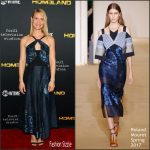 Claire Danes In Roland Mouret  At  'Homeland' LA Screening