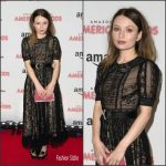 Emily Browning In Miu Miu  At  'American Gods' London Premiere