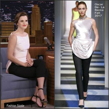 emma-watson-in-oscar-de-la-renta-tonight-show-starring-jimmy-fallon-700×700