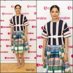 Freida Pinto In L.K. Bennett  At  The Lorraine Show