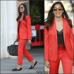 Freida  Pinto In Top Shop Suit -BBC 1xtra studios
