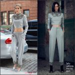 Gigi Hadid In Sally LaPointe Out In New York