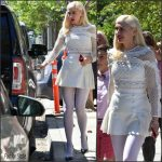 Gwen Stefani In Self-Portrait  At  Easter Church Service