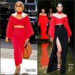 Jennifer Lopez In Balmain Out In New York