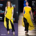 Karen Gillan In Monse  At 'Guardians Of The Galaxy Vol. 2' LA Premiere
