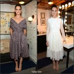 Katie Holmes In Zac Posen  &  Philosophy Di Lorenzo Serafini  -Tonight Show Starring Jimmy Fallon