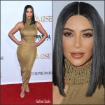 Kim Kardashian In Vintage Gianni Versace  At 'The Promise' LA Premiere