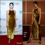 Lily Aldridge In Khaite  At  2017 World Of Children Hero Awards