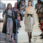 Lily Collins In Altuzarra  At  ITV Studios