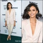 Nina Dobrev In  Giorgio Armani At Natural Resources Defense Council's STAND UP! Benefit
