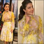 Priyanka Chopra  In Blumarine  – LIVE with Kelly in New York City