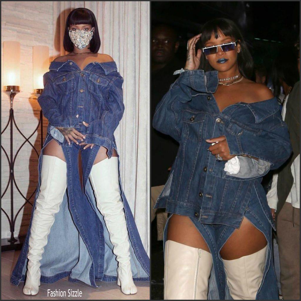 Rihanna in matthew adams dolan coachella 2017 fashion sizzle - Rihanna poids 2017 ...