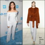 Selena Gomez In Brock Collection  At  We Day California 2017