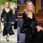 Sienna Miller In J.W.Anderson  At The Late Show Starring Jimmy Fallon