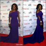 Viola Davis In Armani Prive At  2017 Time 100 Gala
