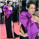 Andie Macdowell In Roberto Cavalli Couture – 'The Meyerowitz Stories' Cannes Film Festival Premiere