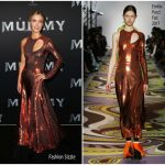 Annabelle Wallis  In Emilio Pucci  -The Mummy  Sydney Premiere