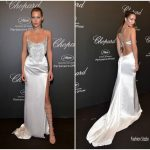 Bella Hadid ​ In Roberto Cavalli Couture –  Chopard Space Party  at Porto Canto during Cannes