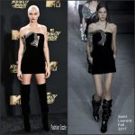Cara Delevingne In Saint Laurent At  2017 MTV Movie & TV Awards