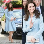 Catherine, Duchess of Cambridge In Emilia Wickstead In  Luxembourg