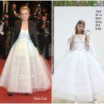 Elisabeth Moss  In Oscar De La Renta – The Square   Cannes Film Festival Premiere