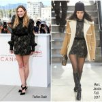 Elizabeth Olsen  In Marc Jacobs – Wind River Cannes Film Festival Photocall