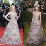 Elle Fanning In  Christian  Dior Couture – Cannes Film Festival 70th Anniversary Celebration