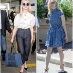 Elle Fanning  In Miu Miu  Out In  Cannes 2017