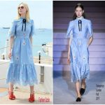 Elle Fanning In Temperley London  – L'Oréal Beach  Cannes 2017 Event
