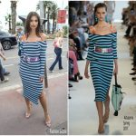 Emily Ratajkowski  In Altuzarra  -Out In Cannes 2017