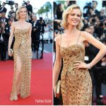 Eva Herzigova In Roberto Cavalli Couture – 'Ismael's Ghosts' Cannes Film Festival Premiere