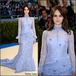 Felicity Jones  In Erdem – 2017 Met Gala