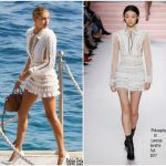 Hailey Baldwin  In Philosophy di Lorenzo Serafini –  Out InCannes 2017