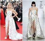 """Hailey Baldwin In Ralph and Russo – """"The Beguiled"""" Cannes Film Festival Premiere"""