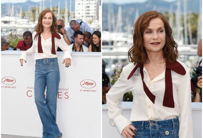 Isabelle Huppert In Chloé - Claires Camera Cannes Film Festival Photocall - FASHION SIZZLE