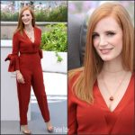Jessica Chastain In Roksanda  At  2017 Cannes Film Festival Jury Photocall