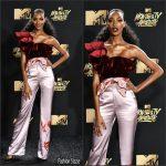 Jourdan Dunn In Johanna Ortiz – 2017 MTV Movie & TV Awards