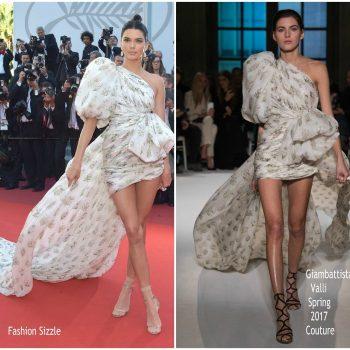 4663070d57c Kendall Jenner In Giambattista Valli Couture –  120 Beats Per Minute  Cannes  Film Festival Premiere