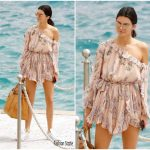 Kendall Jenner  In Zimmermann – Eden Roc Palace  At Cannes 2017
